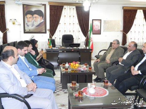 نشست فرماندار مینودشت با مدیر کل فرهنگ و ارشاد اسلامی استان گلستان