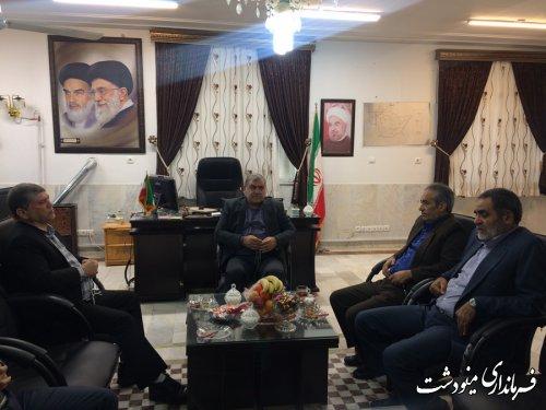 نشست فرماندار مینودشت با مدیر کل سازمان تعاون روستایی استان