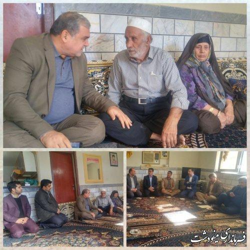 فرماندار مینودشت در منزل پدر شهید بدیع میزبان از شهدای عملیات کربلای 4 حاضر شدند