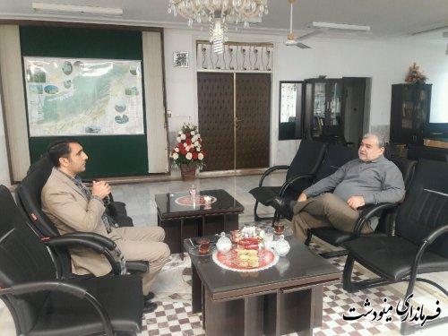فرماندار مینودشت با رئیس آموزش و پرورش شهرستان دیدار کرد