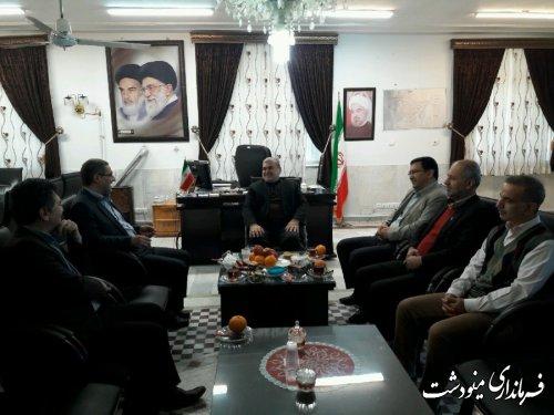 دیدارطباطبایی فرماندار مینودشت با اسرافیل وزیری مدیر کل بنیاد شهید استان