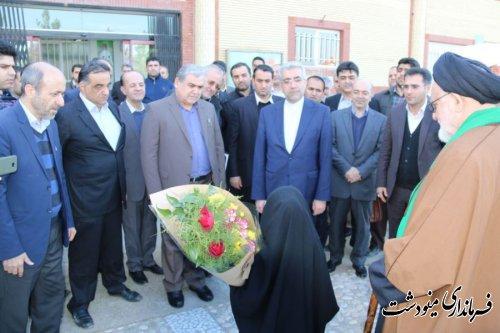 مراسم افتتاح و کلنگ زنی متمرکز پروژه های صنعت آب و برق استان گلستان در  مینودشت