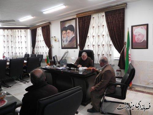 ملاقات مردمی فرماندار شهرستان مینودشت برگزار شد