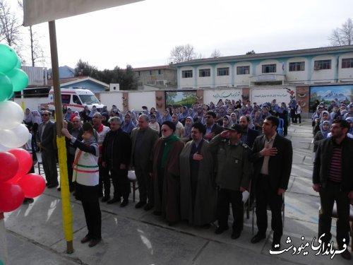 نواختن زنگ انقلاب در شهرستان مینودشت