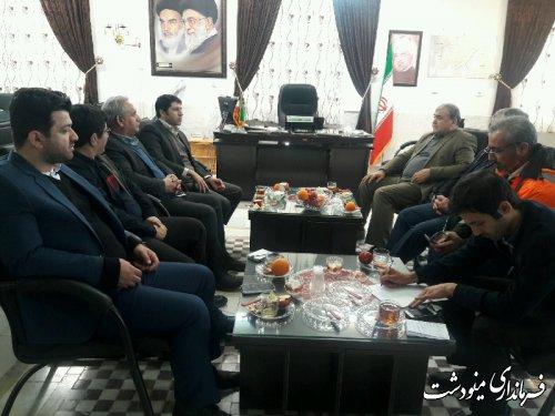 دیدار فرماندار با مدیر کل راهداری استان گلستان