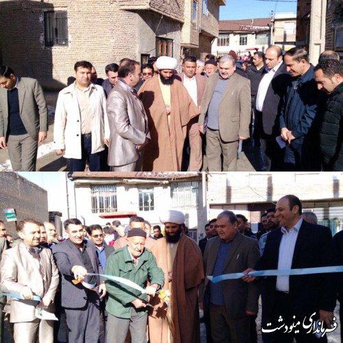 برگزاری مراسم افتتاح متمرکز در بخش کوهسارات با حضور فرماندار