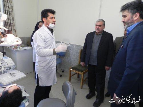 بازدید فرماندار مینودشت  از طرح ویزیت رایگان دندانپزشکی
