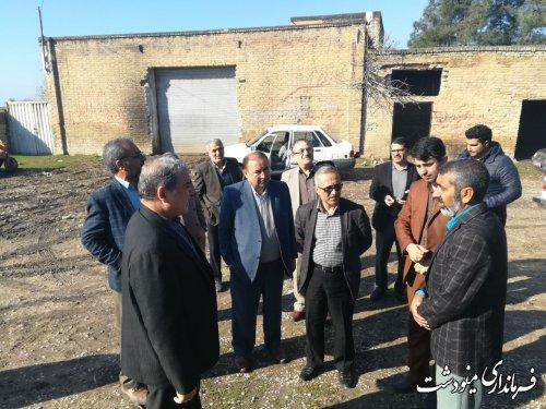 بازدید فرماندار مینودشت از روستاهای ده عبدالله  و شرکت صحرا