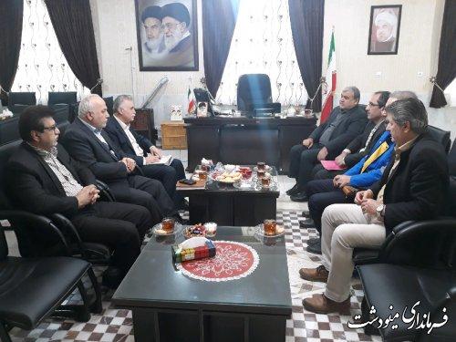 دیدار فرماندار مینودشت با مدیر عامل شرکت پخش فراورده های نفتی استان گلستان