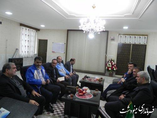 حضور نماینده مردم در مجلس شورای اسلامی در ستاد بحران شهرستان مینودشت