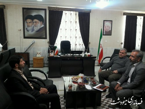 دیدار مدیر کل راهداری استان گلستان با فرماندار مینودشت