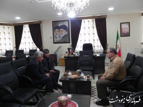 حضور مدیر کل سیاسی استانداری گلستان و فرماندار گالیکش در فرمانداری مینودشت