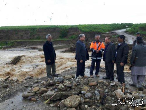 بازدید از پل تخریبی روستای شرکت صحرا