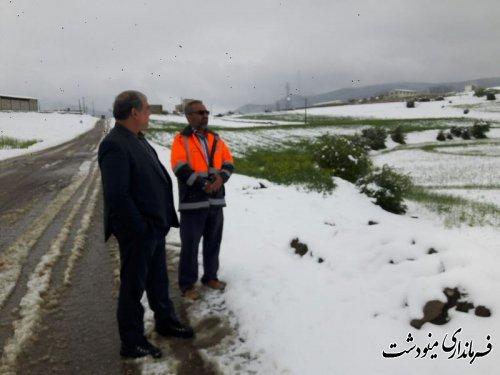 بازدید فرماندار از محور های مواصلاتی بخشهای مرکزی و کوهسارات شهرستان مینودشت