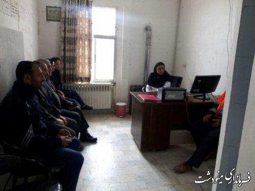 بازدید فرماندار شهرستان مینودشت از مرکز خدمات جامع سلامت روستایی قلعه قافه
