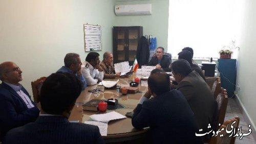 جلسه شورای ترافیک شهرستان مینودشت برگزار شد
