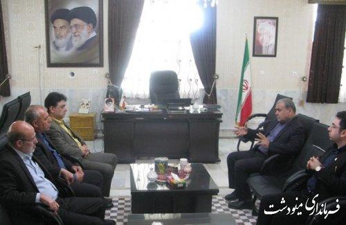 دیدار مدیرکل آبفار استان گلستان با سیدرضا طباطبایی فرماندار شهرستان مینودشت
