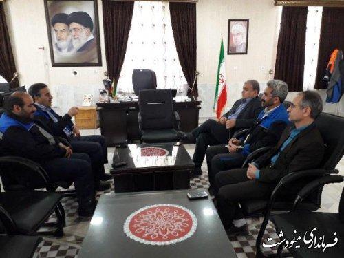ملاقات مدیر عامل شرکت زغالسنگ البرز شرقي با فرماندار شهرستان مینودشت