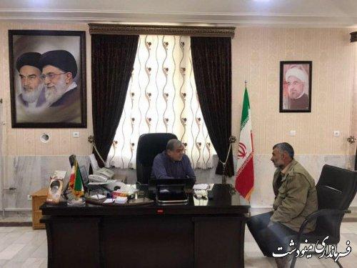 ملاقات های چهره به چهره فرماندار با مردم شریف شهرستان مینودشت