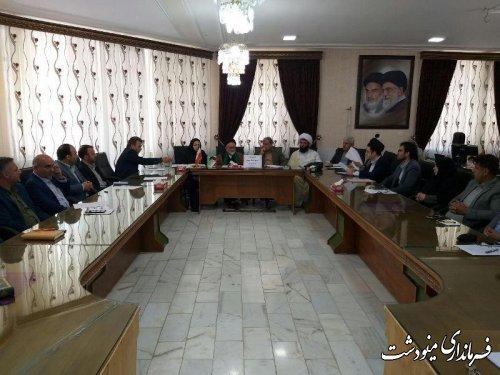 رونق تولید دستور کار جلسه شورای فرهنگ عمومی شهرستان مینودشت