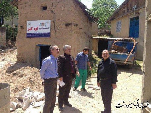 بازدید فرماندار مینودشت از روستاهای کوه کمر ، آهنگر محله ، زندان چال
