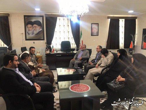 دیدار نمایندگی آستان قدس رضوی در استان گلستان با فرماندار مینودشت