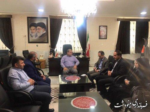 دیدار اعضای شورای اسلامی شهرستان مینودشت با فرماندار