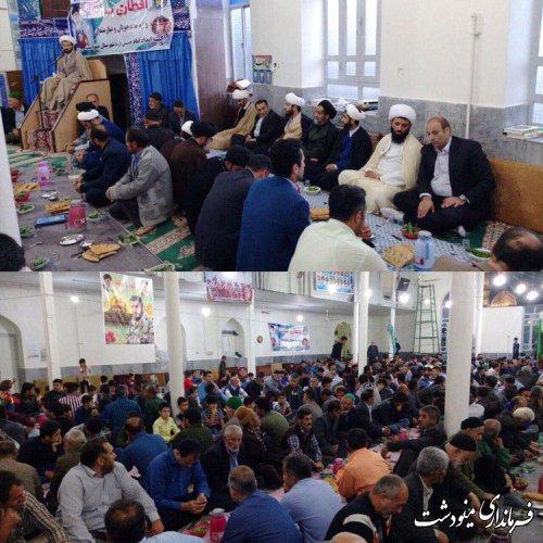 حضور بخشدار کوهسارات در مراسم در مسجد پنج دوزین