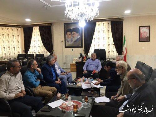 جلسه بازسازی و نو سازی مناطق سیل زده برگزار شد