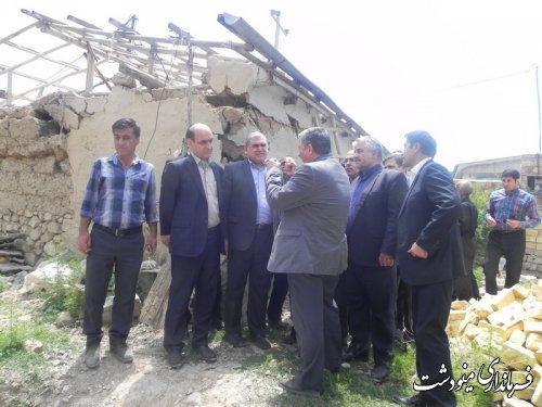 بازدید استاندار گلستان از مناطق سیل زده بخش مرکزی و کوهسارات شهرستان مینودشت
