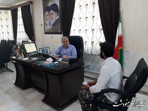 ملاقات های عمومی فرماندار شهرستان مینودشت برگزار شد