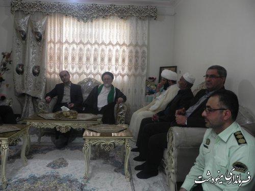 دیدار  استاندار گلستان از خانواده شهید والامقام حسین تالانه