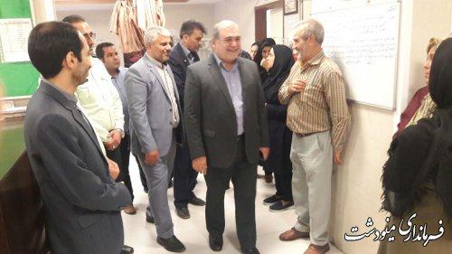 بازدید فرماندار از بیمارستان فاطمه الزهرا (س) مینودشت