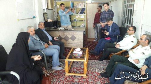 بازدید فرماندار شهرستان مینودشت از مرکز ترک اعتیاد صبح روشن