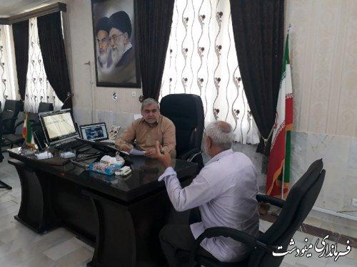 ملاقات های عمومی فرماندار شهرستان مینودشت با مردم برگزار شد