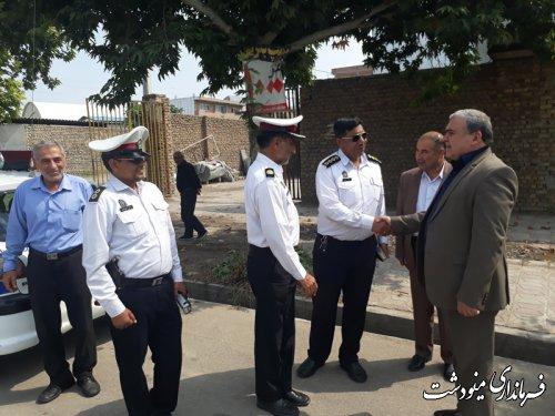 بازدید فرماندار مینودشت از محل کنترل سرعت پلیس