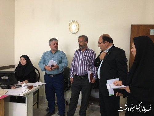 بازديد بخشدار بخش مركزي محمد رضا قره جانلو ومدير جهادكشاورزي شهرستان