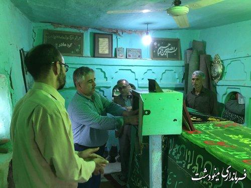 غبار روبی امام زاده پیر سرخو توسط بخشدار مرکزی شهرستان