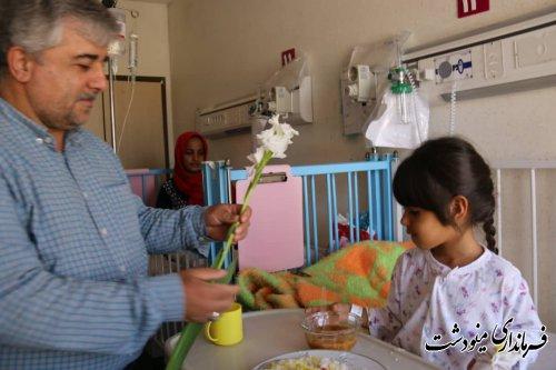 عیادت فرماندار از بیماران در بیمارستان برکت فاطمه الزهرا سلام الله علیها
