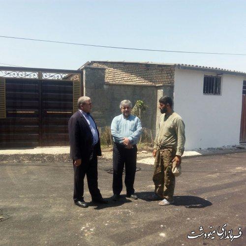 بازدید فرماندار از عملیات آسفالت روستای قلمی