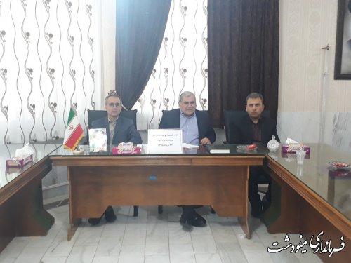 نشست فرماندار شهرستان مینوشت با تشکل ها ، احزاب و سازمانهای مردم نهاد