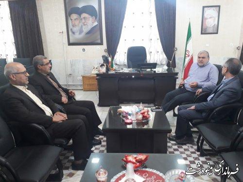 دیدار مدیرکل بنیاد شهید و امور ایثارگران استان گلستان با فرماندار مینودشت