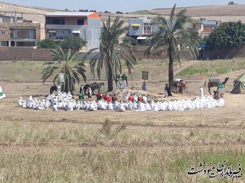 بازسازی واقعه غدیر در شهرستان مینودشت به نمایش در آمد