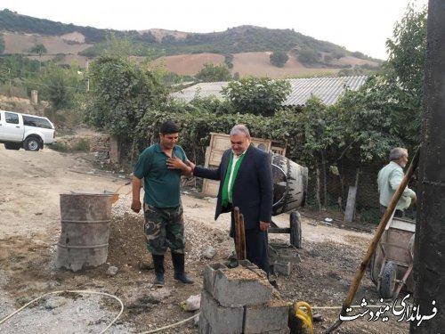 بازدید فرماندار از روند ساخت منازل مسکونی روستای سایر