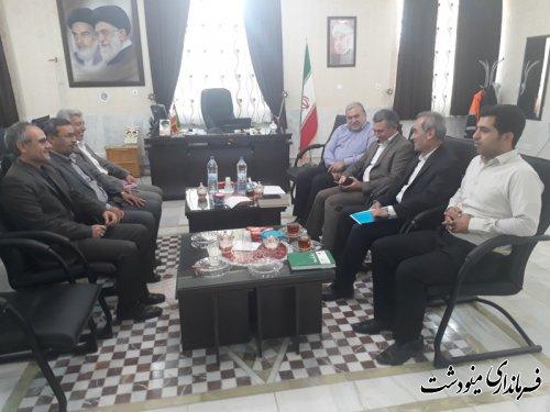 نشست هماهنگی فرمانداران شرق استان برای هماهنگی برگزاری انتخابات در شهرستان مینودشت