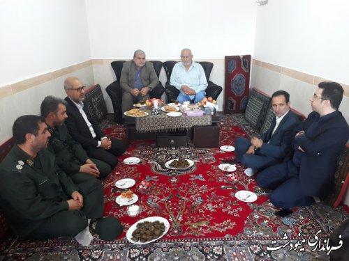 دیدار فرماندار با خانواده شهدا و آزادگان به مناسبت  هفته دولت و هفته خانواده