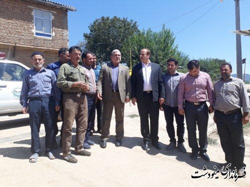بازدید فرماندار مینودشت از روستای توسکاچال