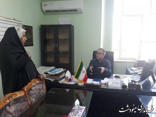 ملاقات عمومی معاون فرماندار با مردم شهرستان مینودشت برگزار شد