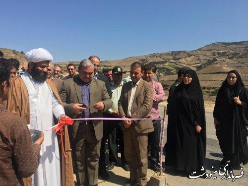 افتتاح پروژه های عمرانی بخش کوهسارات با حضور فرماندار مینودشت