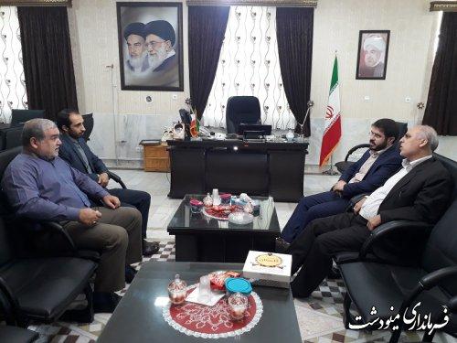 دیدار ریاست دادگستری و دادستان و فرماندهان سپاه پاسداران انقلاب اسلامی مینودشت با فرماندار
